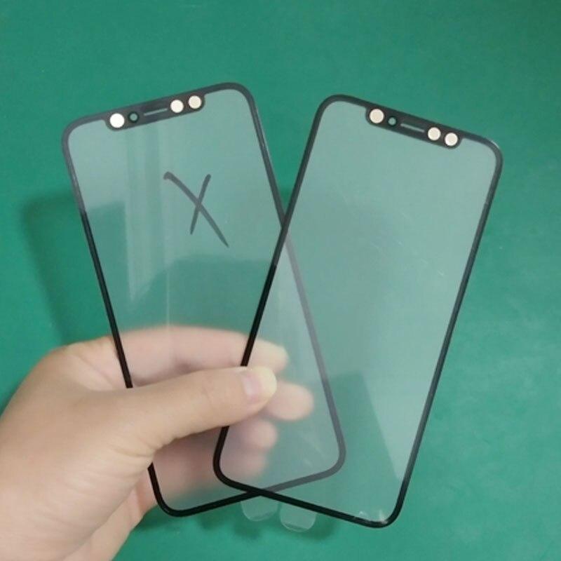 10 шт. для Apple iPhone X XS Max 11 Pro Max 12 Mini переднее стекло сенсорный экран верхняя линза ЖК внешняя панель крышка с OCA Замена