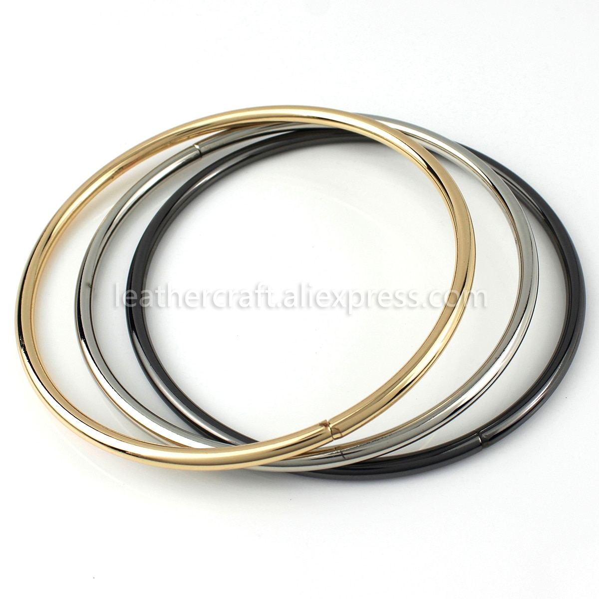 "1x bolsa de Metal sólido o-ring con asa de Metal correa de reemplazo bolso de mano equipaje DIY accesorios de Hardware de moda 115mm(4-1/2 "")"