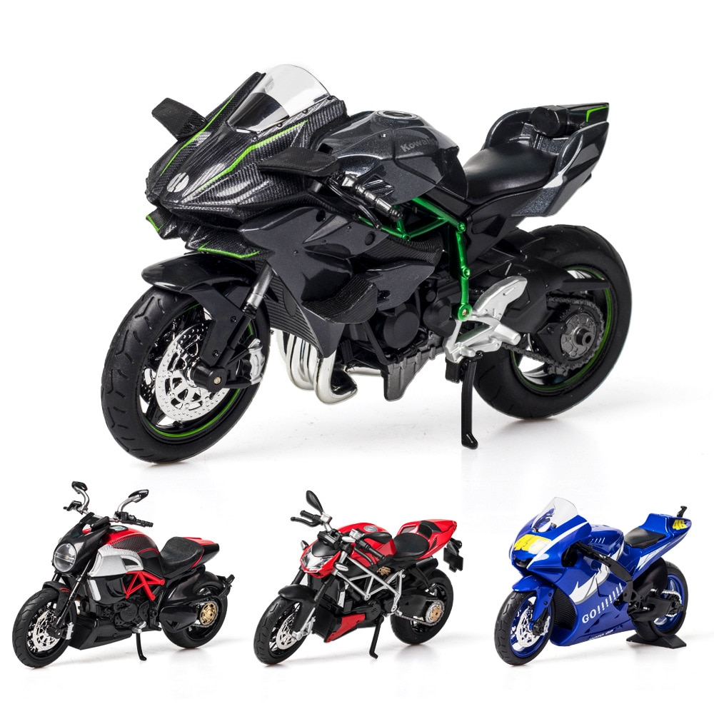 1:12 Alloy Racing Motorcycle Model Diecast Car Toy Decoration Collection Motorcycle Sound And Light Car Kids Birthday Gifts Toys mini vintage metal toy motorcycle toys hot wheel safe cool diecast blue yellow red motorcycle model toys for kids collection