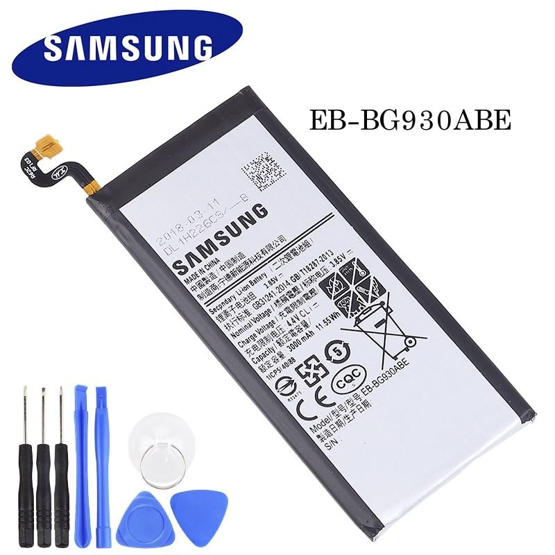 Batería Original EB-BG930ABE para Samsung Galaxy S7 G930 G930F G930FD G930W8 batería de repuesto para teléfono móvil 3000mAh