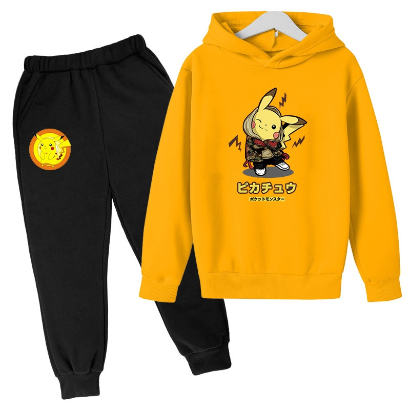 Children's Suit Fashion Printing Spring and Autumn Clothing Hoodie + Pants Two-piece Sweatshirt Suit Boys and Girls Sportswear
