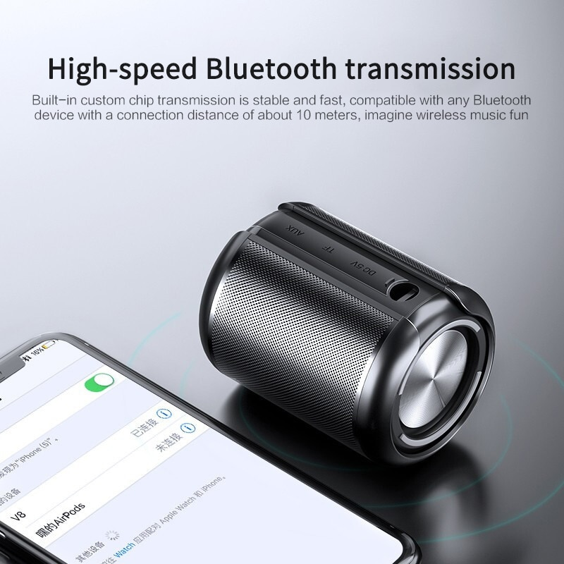 HiFi Mini Bluetooth Speaker 3D Surround Sound 360° Surround Stereo Coverage Wireless Column USB AUX TF Outdoor Subwoofer enlarge
