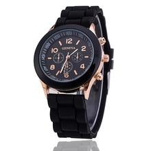 2019 Hot Sales Geneva Brand Silicone Women Watch Ladies Fashion Dress Quartz Wristwatch Female Watch