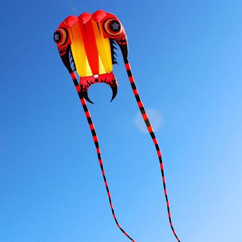 free shipping large soft kite fly trilobite kites for adults ripstop nylon kite reel jellyfish octopus kite eagle kite factory недорого