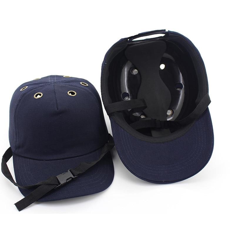 Gorra de béisbol de seguridad ligera gorra de protección de la cabeza gorras de seguridad para el trabajo casco de seguridad ABS cubierta interior Top 6 agujeros