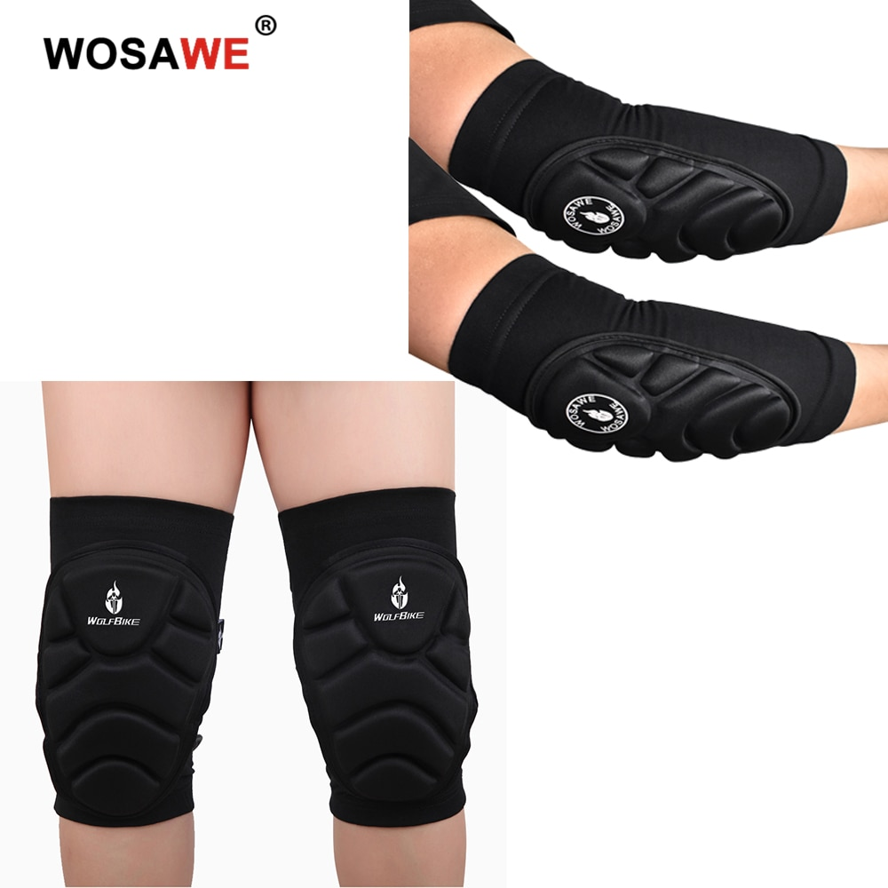 WOSAWE Motorcycle Knee Pads Motocross Knee Protector Guard Moto Elbow Protector Protective Gear Motorbike Ridng Protective wosawe motorcycle elbow knee protector knee protective gear cycling skating snowboarding motocoss knee elbow guards pads