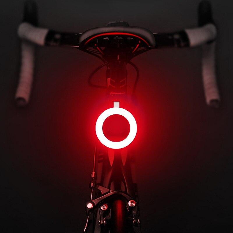 Linterna de carga USB para luz de bicicleta, 7 estilos de luces Led para bicicleta, luz trasera, luces de advertencia para ciclista nocturno, lámpara de ciclismo