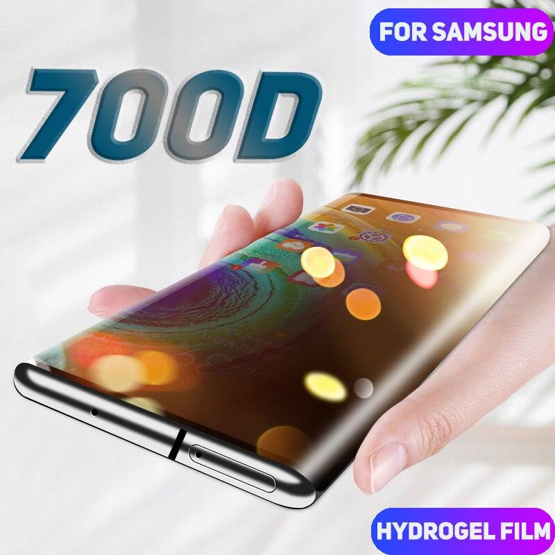 700D منحني هيدروجيل فيلم ل غالاكسي S10 زائد S20 الترا حامي الشاشة على ل نوت 10 زائد S8 S9 نوت 8 9 فيلم