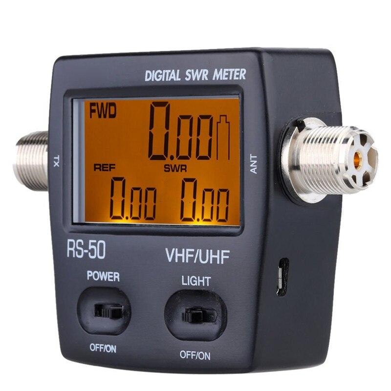 2 قطعة جديد نيسي RS-50 الرقمية SWR/واط متر 125-525MHz UHF/VHF M نوع موصل ل TYT BaoFeng LED شاشة راديو الطاقة مكافحة