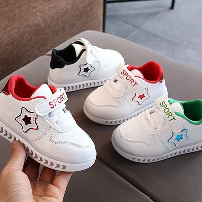 Демисезонная детская спортивная обувь для мальчиков и девочек, Корейская повседневная обувь, детская белая обувь, детская флэш-обувь, спорт...