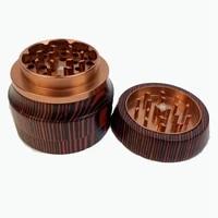 the new solid wood smoke machine 4 layers 68mm herbal herb tobacco grinder smoke grinders weed smoking pipe accessories