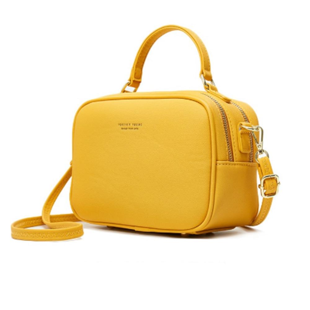 Buylor Vintage Crossbody Bag PU Leather Ladies Shoulder Messenger Bag Women Designer Purse HandBag Fahsion Phone Pouch