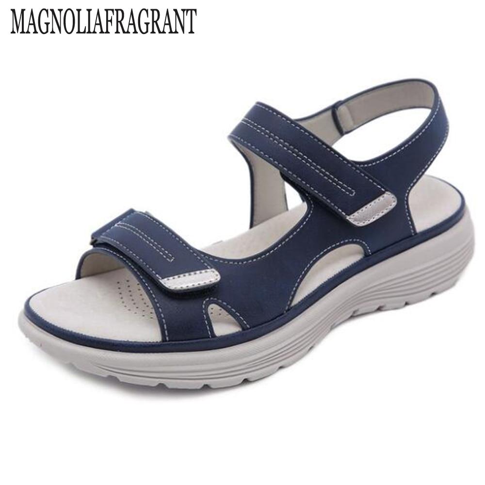 جديد أحذية النساء الصنادل المريحة السيدات الانزلاق على صندل خشبي رياضة الشاطئ المشي أحذية الصيف أحذية خفيفة أنيقة hy737