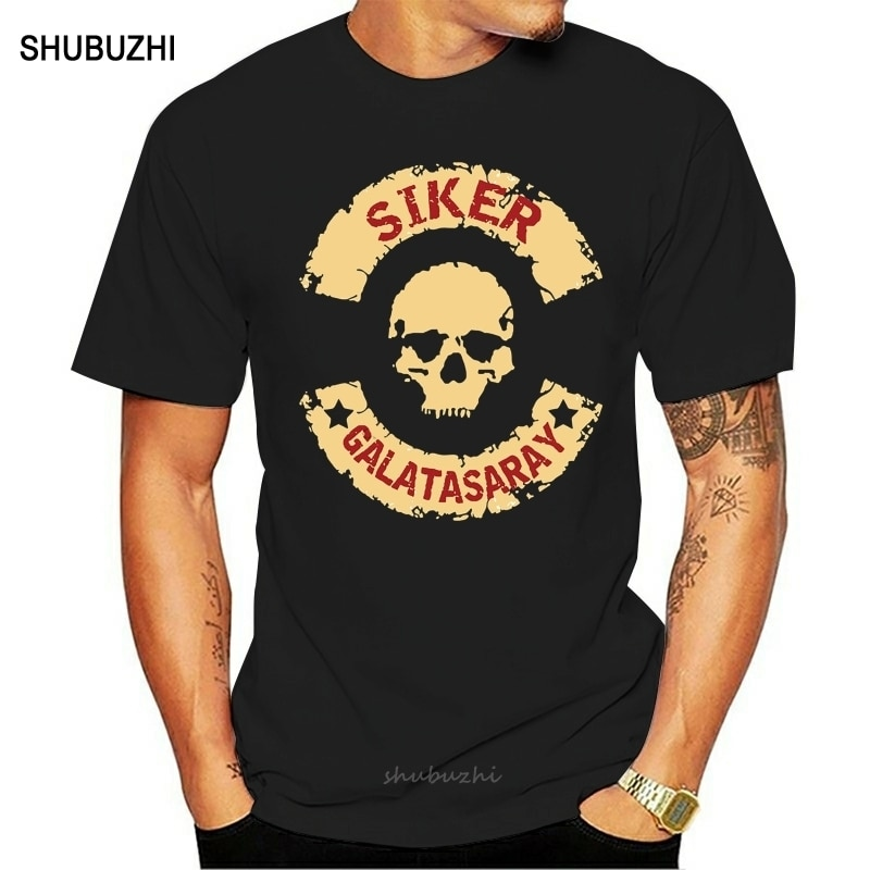 Camiseta para hombre, camiseta de manga corta siker Galatasaray de fútbol de estanca, Camiseta de algodón para hombre, camiseta de marca de verano de talla europea