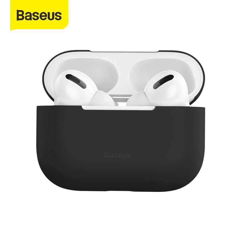 Силиконовый чехол Baseus для беспроводных наушников Airpods Pro, чехол для беспроводных Bluetooth наушников Apple Airpods pro, чехол для наушников Air Pod Pro