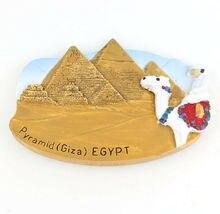 Pyramids Of Giza Egypt Fridge Magnet Souvenir Gift 3D Resin Landscape Refrigerator Magnetic Sticker Home Kitchen Decor