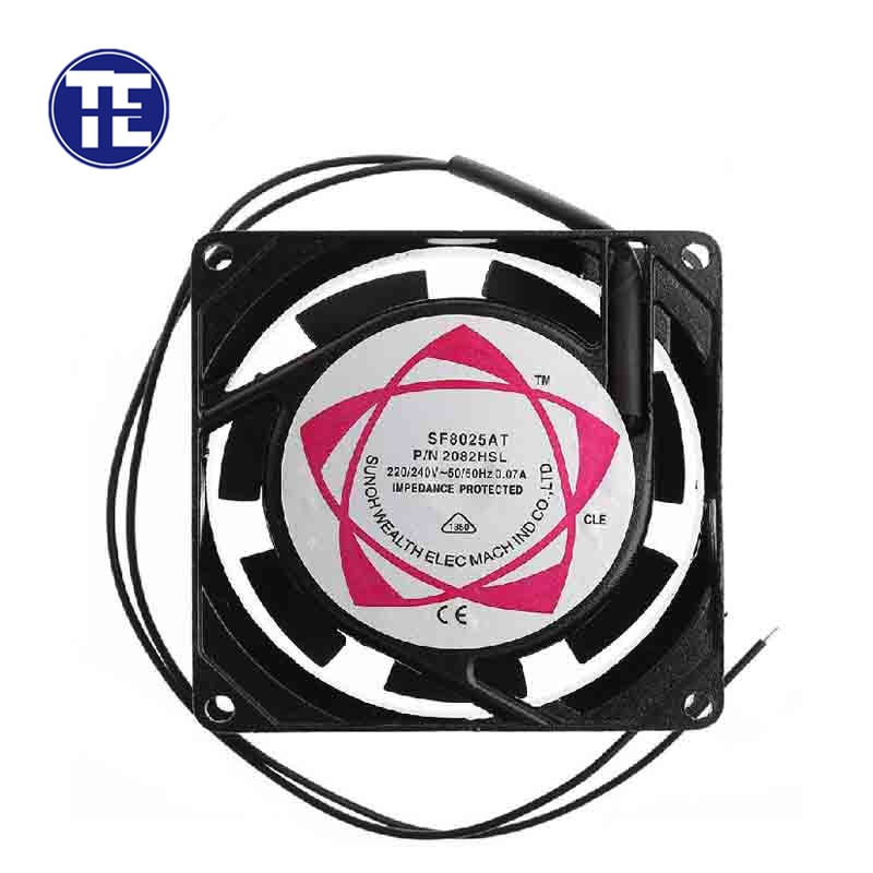 1 PC 8025 AC Cooling Fan SF8025AT 2082HSL 8025 80mm Sleeve Bearing 220-240V AC 2-Wire Case Cooling Fan