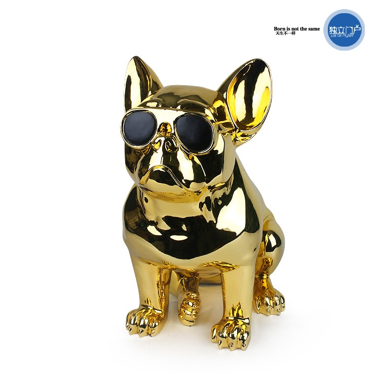 شخصية حديثة الإبداعية الراتنج البلدغ تمثال على شكل كلب إكسسوارات ديكور منزلي صالون الكلب حلية الراتنج تمثال الحيوان هدية