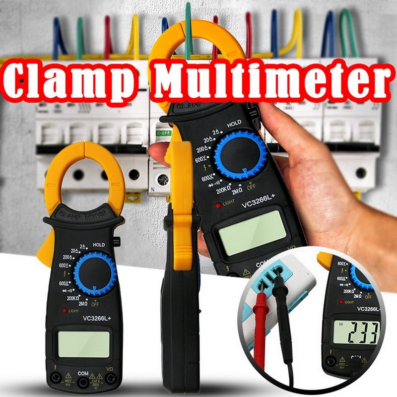 Vc3266l amper digital braçadeira medidor multímetro handheld corrente braçadeira pinças voltímetro amperímetro ac/dc ohm corrente tensão tester