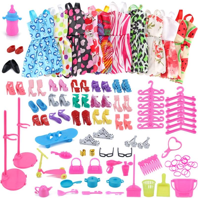 Tema 85/Set accesorios de la muñeca = 10 mezcla de moda lindo...