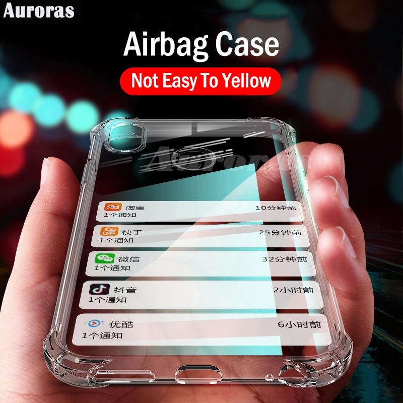 Auroras para Realme 5 Pro funda oficial Original transparente a prueba de golpes funda de Airbag transparente para Realme XT X X2 Q 5 3 Pro fundas