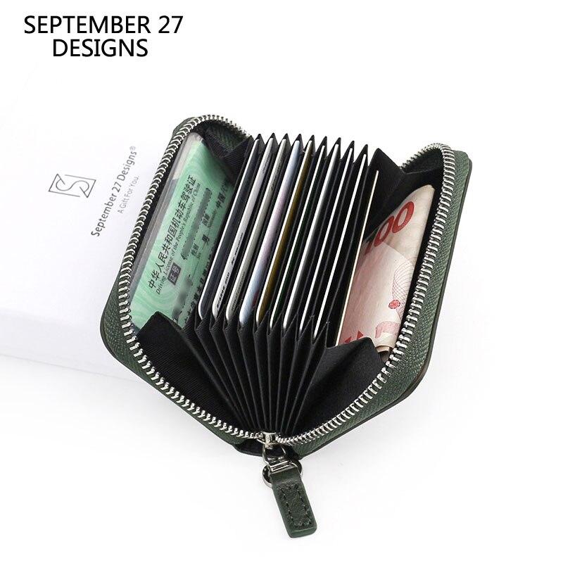 Novas carteiras de cartão de crédito primeira camada couro do couro titular do cartão de banco slot para cartão mini moeda bolsa moda pequenas bolsas bolsa de mudança