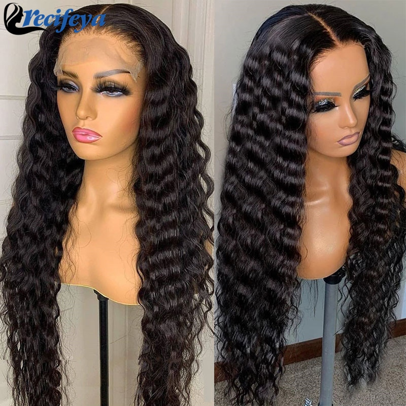 Loose deep Wave Lace Front Wig 28 30 Inch Brazilian Loose Deep Lace Closure Wig 100% Remy Human Hair Lace Wigs For Black Women