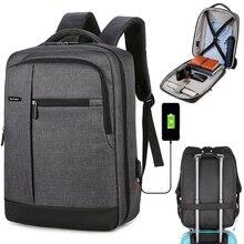 USB Charger Male Mochila College Backpacks 15.6 inch Men School Laptop Backpacks Travel Multi Busine