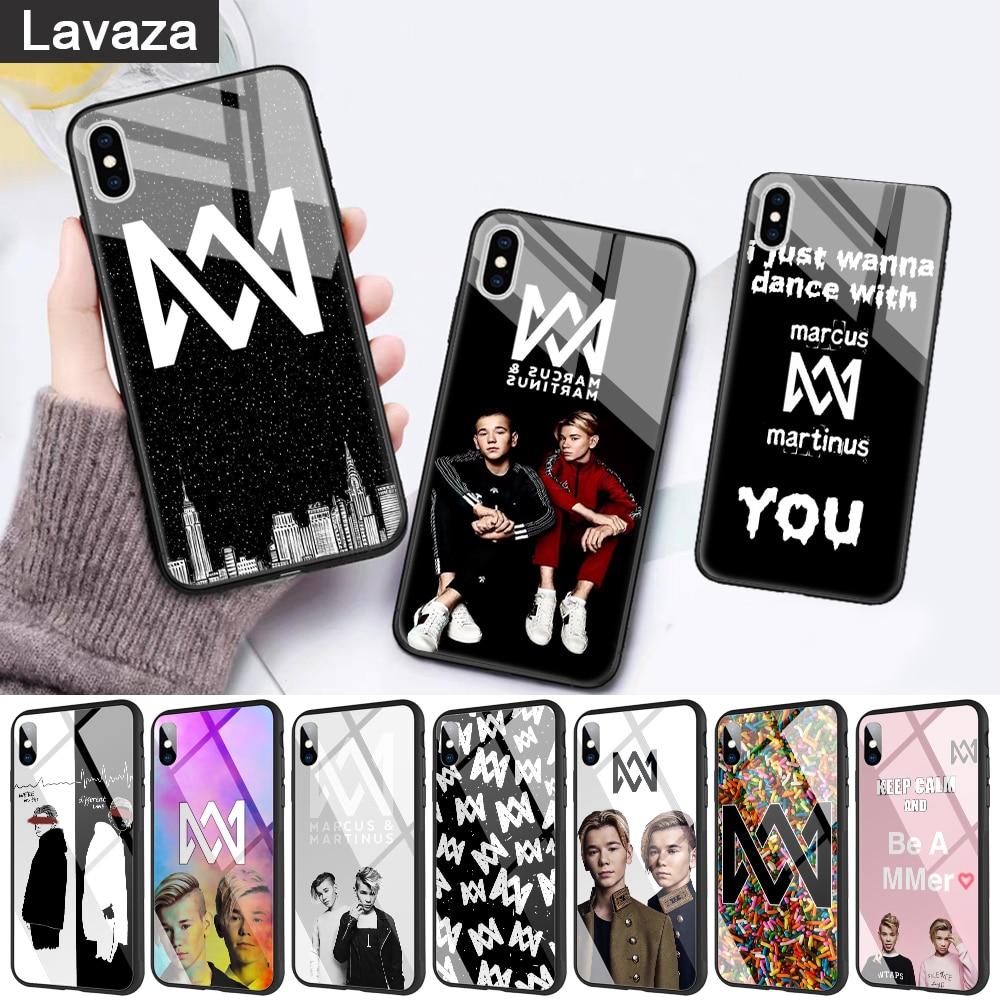 Funda de cristal para teléfono de Marco & Martin para Apple iPhone 11 Pro X XS Max 6 6S 7 8 Plus 5 5S SE