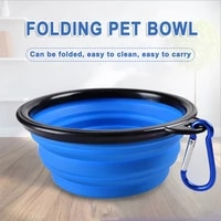 350ml small 1000ml large silicone folding bowl outdoor portable water bowl for dogs puppy food collapsible pet feeder dish bowl