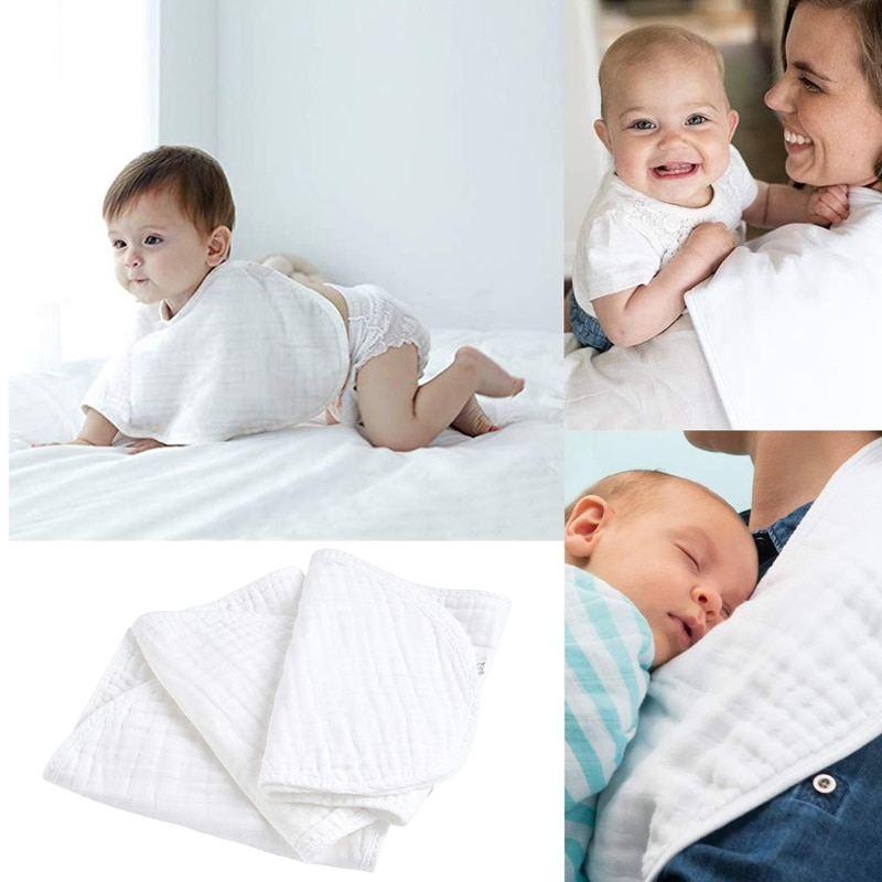 6 Pcs/Pack Baby Infant Absorbent Feeding Bibs Burp Cloth Saliva Towel Handkerchief Toddler Scarf Washcloth Towel