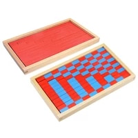 small size montessori math toy blue red rods sticks box red rods digital 1 10 with wood box toys for children early learning