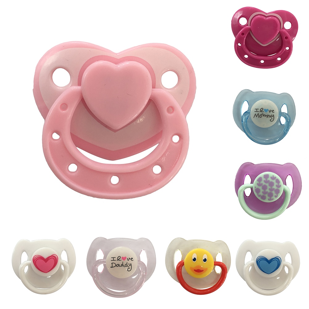 Baby Doll Accessories Reborn Supplies Dummy Magnetic Pacifier+Magnet For Dolls Girl Toy Pacifier