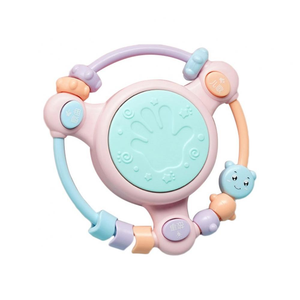 0-12 Months Baby Early Education Hand Drum Rattle with Chinese Music Kids Toys