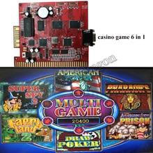 Casino Slot Game PCB Board Red 6X 6 in 1 60-95% Motherboard Multi Juego Poker Super Spy 2 Faery Land 2