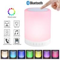 Умный светильник с Bluetooth-колонкой, цветные светодиодные настольные лампы с поддержкой TF-карт и AUX