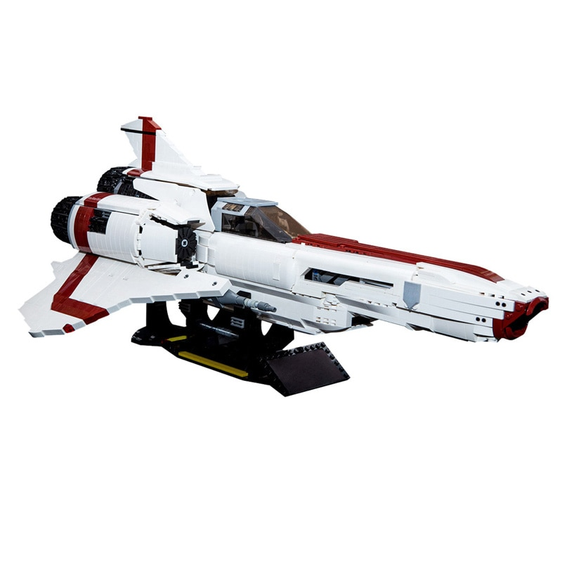 MOC Space Series Galactica Colonial 9424 MKII High-Tech Battle Copter Building Blocks DIY Puzzle Bricks Toys for children Gift moc constrictor ii playable interdictor cruiser space battle high tech military transport model building blocks toy for children