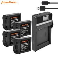 Powtree 1600mAh CGA-S006 CGA S006 Battery + USB LCD Charger for Panasonic Lumix DMC-FZ28 DMC-FZ7 DMC-FZ8 FZ50 FZ8K FZ28K