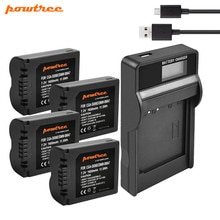 Powtree 1600mAh CGA-S006 CGA S006 Battery + USB LCD Charger for Panasonic Lumix DMC-FZ28 DMC-FZ7 DMC-FZ8, FZ50, FZ8K, FZ28K