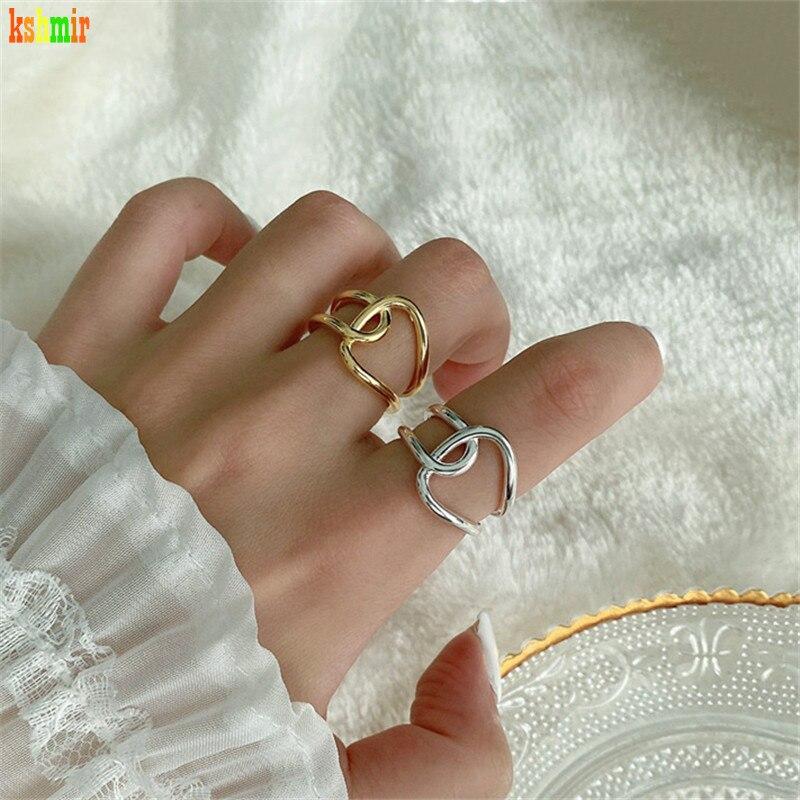 Kshmir 2020 el nuevo ms contrajo la personalidad distorsionada femenina curva irregular anillo joyería Regalo boda fiesta