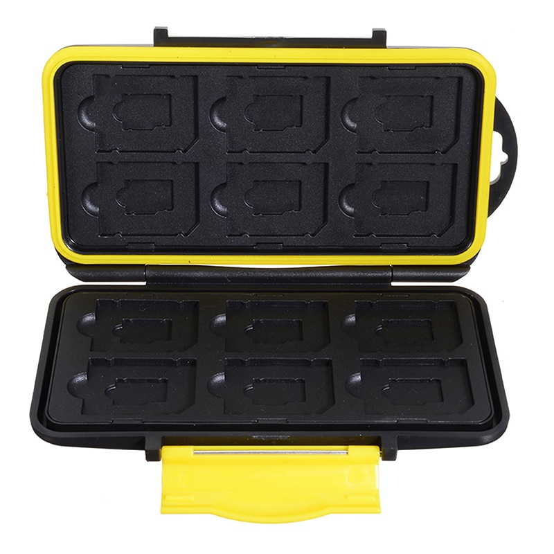1PC Storing Case Micro SD/TF Cards Holder Portable Storage Box Card Protecting Placing Boxs Waterproof ABS 12 Slots