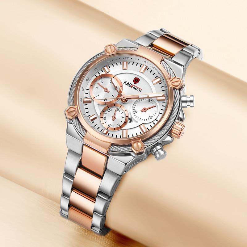 KADEMAN New Ladies Watches TOP Brand Luxury Business Women Wristwatch 3TAM Full Steel Bracelet Quartz Watch Fashion Female Clock enlarge