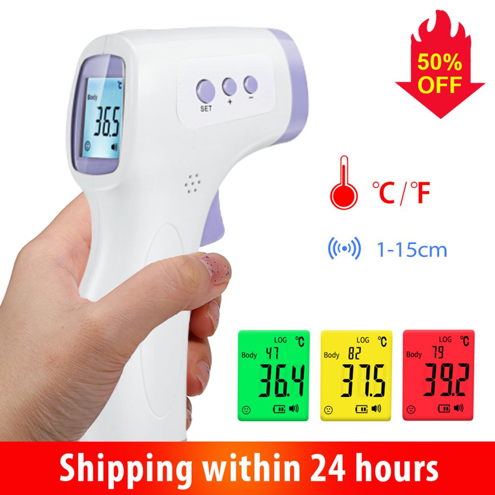 Digital Infrared Thermometer Non-Contact Forehead IR Ear Fever Electronic Laser Body Temperature Home Outdoor Kids Baby Adult non contact infrared thermometer digital forehead home outdoor handheld laser body temperature fever ear baby adult