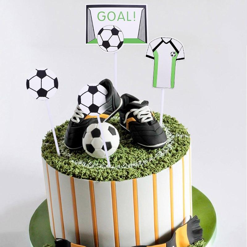 5 Juegos de baloncesto, fútbol, fiesta, torta, cumpleaños, feliz cumpleaños, adornos de pastel de fiesta, suministros para hornear, regalos para niños
