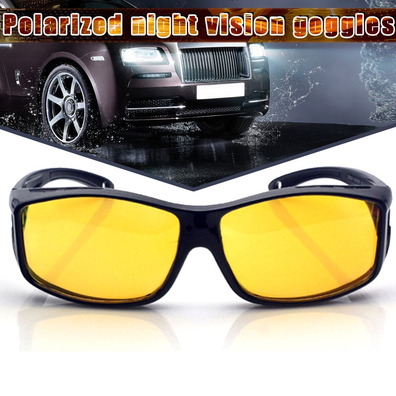 New Night Driving Glasses Anti Glaring Night Vision HD Polarized Fit Over Wrap Around Glasses Drop Shipping