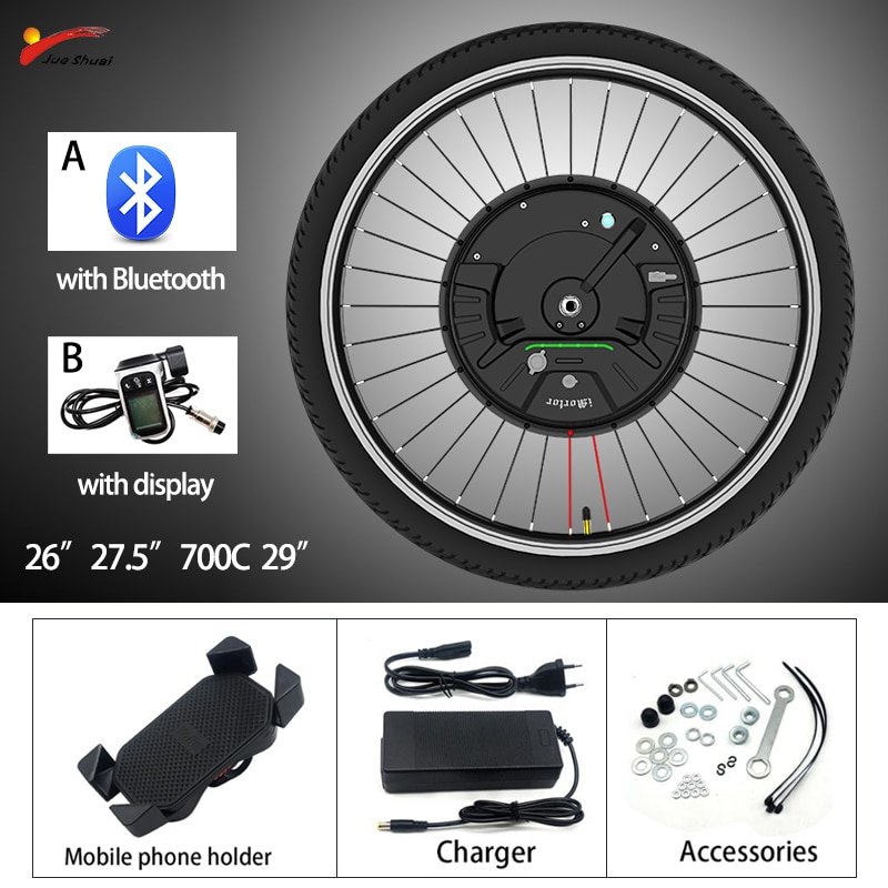 IMotor Wheel3.0 26-29 pulgadas 36V350W APP/pantalla V/disco de freno Kit de conversión...