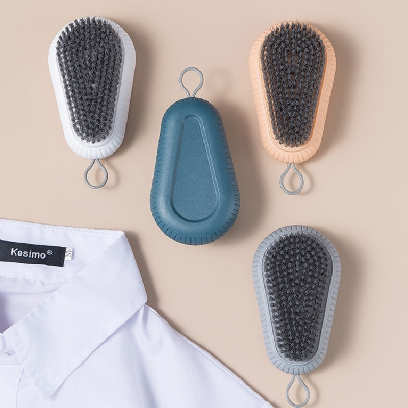Plain plastic soft bristles laundry brush, cleaning and washing shoe brush, brush for washing shoes and clothes, board brush, sh multi use silicone laundry washing brush small size handheld washing board brush for clothes candy color shirts cleaning tool