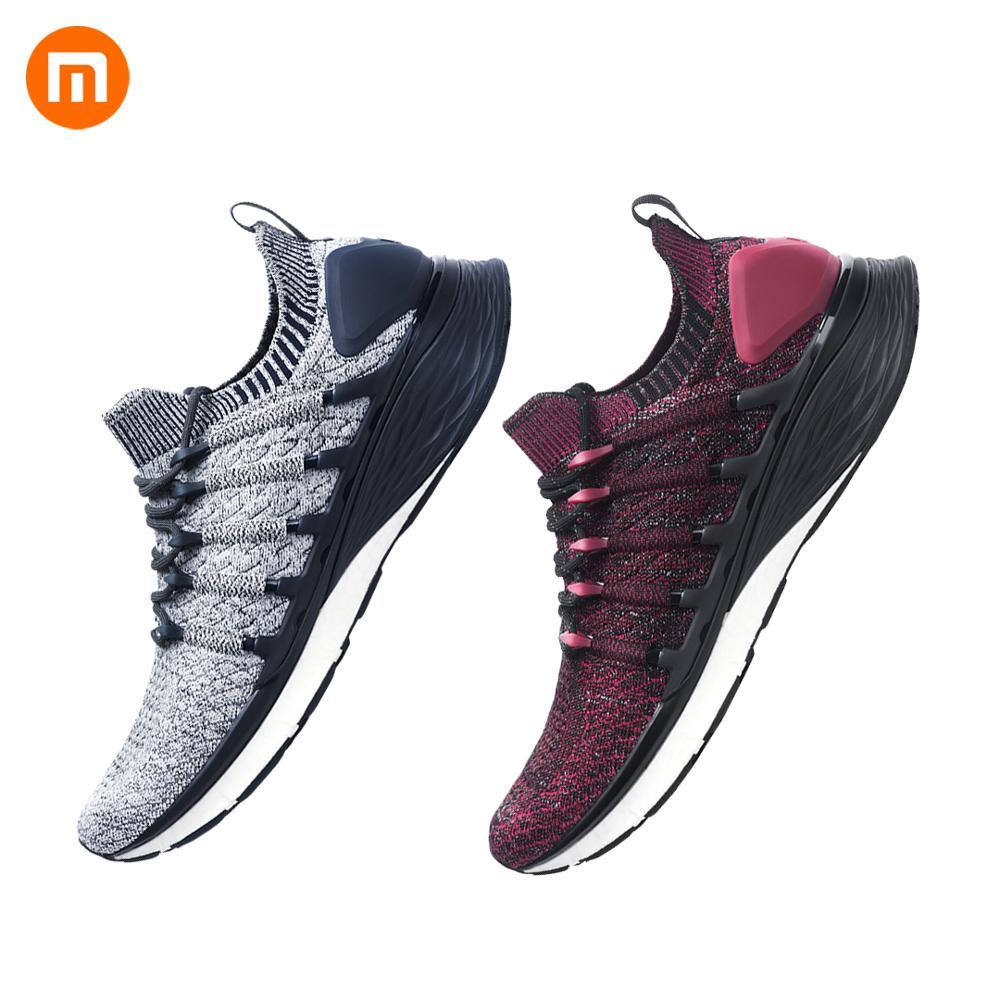 2019 Newest Xiaomi Mijia Sneaker Sports Shoes 3 Men Running Shoes Popcorn Cloud Bomb 3D Fishbone Lock System 6 in 1 Uni-moulding