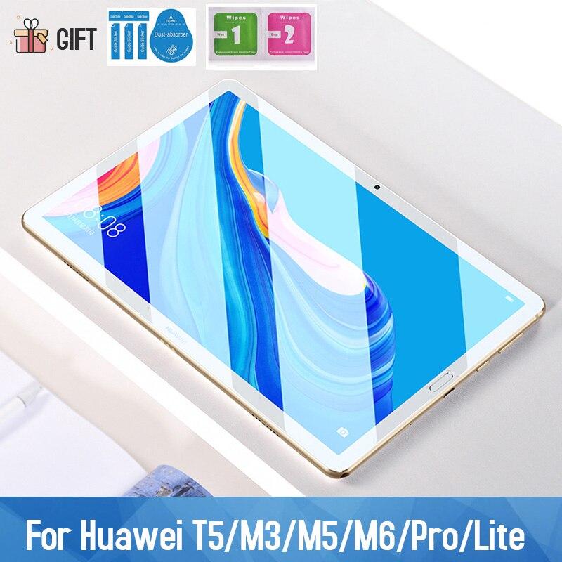 Vidrio Templado 9H para Huawei MediaPad M5/M6 10,8 AGS2-W09/L09/L03/W19 Tablet película protectora de pantalla para T5 8,4 10,1 Wifi Lite