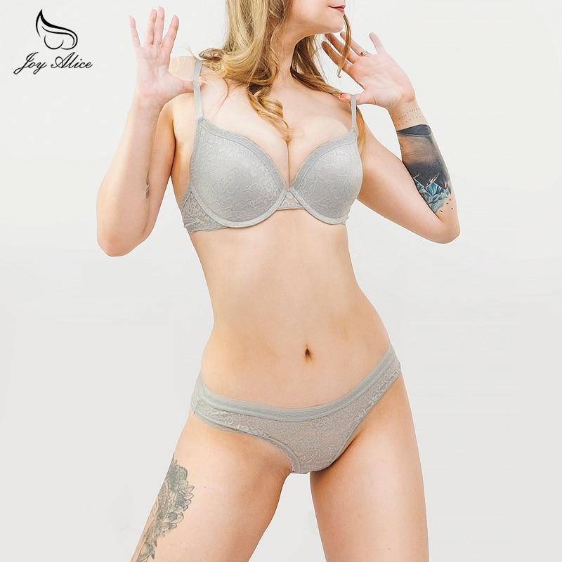 VS Brand lace bra set padded push up bra panties underwear briefs intimates Breast Gather 3/4 Cup padding Bra women's Sexy